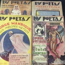 Libros antiguos: LOS POETAS - FRANCISCO VILLAESPESA - JORGE MANRIQUE - LUIS DE OTEYZA - PAUL VERLAINE. Lote 168054300