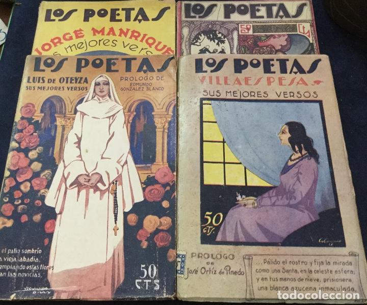 Libros antiguos: LOS POETAS - FRANCISCO VILLAESPESA - JORGE MANRIQUE - LUIS DE OTEYZA - PAUL VERLAINE - Foto 2 - 168054300