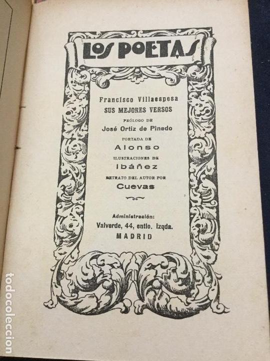 Libros antiguos: LOS POETAS - FRANCISCO VILLAESPESA - JORGE MANRIQUE - LUIS DE OTEYZA - PAUL VERLAINE - Foto 3 - 168054300
