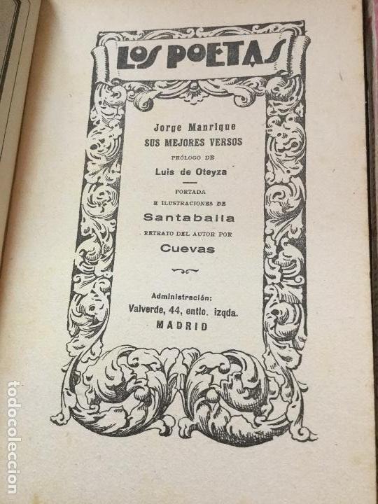 Libros antiguos: LOS POETAS - FRANCISCO VILLAESPESA - JORGE MANRIQUE - LUIS DE OTEYZA - PAUL VERLAINE - Foto 4 - 168054300