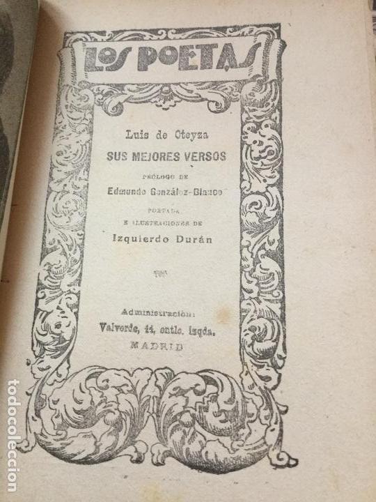 Libros antiguos: LOS POETAS - FRANCISCO VILLAESPESA - JORGE MANRIQUE - LUIS DE OTEYZA - PAUL VERLAINE - Foto 5 - 168054300
