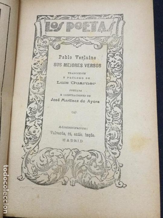 Libros antiguos: LOS POETAS - FRANCISCO VILLAESPESA - JORGE MANRIQUE - LUIS DE OTEYZA - PAUL VERLAINE - Foto 6 - 168054300