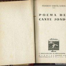 Libros antiguos: POEMA DEL CANTE JONDO, DE FEDERICO GARCÍA LORCA. AÑO 1931 (2.2). Lote 168877333