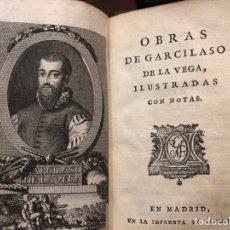 Libros antiguos: VEGA (GARCILASO DE LA) OBRAS DE... MADRID, SANCHA, 1796.. Lote 169287392