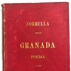 Libri antichi: GRANADA. POEMA. TOMO II. DON JOSE ZORRILLA. MADRID, 1895. Lote 169636560