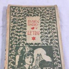 Libros antiguos: RUBÉN DARÍO LETRAS 1918 EDITORIAL MUNDO LATINO MADRID, RÚSTICA ORIGINAL INTONSO CON PEQUEÑAS FALTAS. Lote 169767564