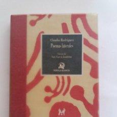 Libros antiguos: CLAUDIO RODRÍGUEZ, POEMAS LATERALES, COLECCIÓN PEÑOLA BLANCA, EJEMPLAR NUMERADO. Lote 171049067