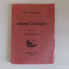 Libros antiguos: LIBRERIA GHOTICA. LIBRO MINIATURA. JOSEP LLEONART. ELS POETES D ´ARA. 1924.. Lote 171416348