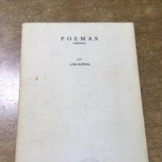 Libros antiguos: LUIS BUÑUEL - POEMAS INÉDITOS - POÉTICAS 5 - 1981 - EDICIÓN NUMERADA. Lote 172240752