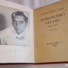 Libros antiguos: FEDERICO GARCÍA LORCA, ROMANCERO GITANO, AÑO 1936,GUERRA CIVIL ESPAÑOLA Y MUERTE POETA. Lote 172399963
