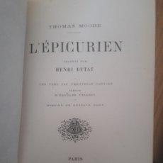 Libros antiguos: THÉOPHILE GAUTIER PRÉFACE D'EDOUARD THIERRY. - DESSINS DE GUSTAVE DORE. PARIS, DENTU, 1865. Lote 173000263