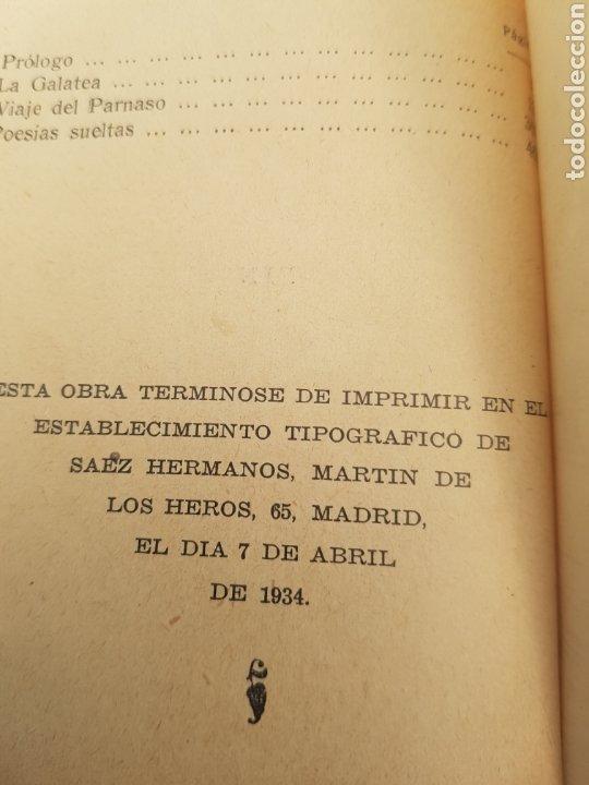 Libros antiguos: 1a. edición Cervantes La Galatea 1934 tapa roja Viaje al Parnaso y Poesías Suertas. Librería Bergua - Foto 3 - 174437178
