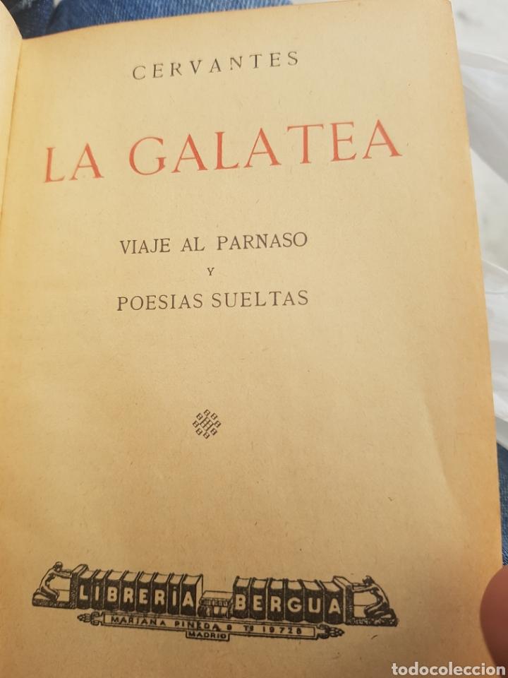 Libros antiguos: 1a. edición Cervantes La Galatea 1934 tapa roja Viaje al Parnaso y Poesías Suertas. Librería Bergua - Foto 4 - 174437178