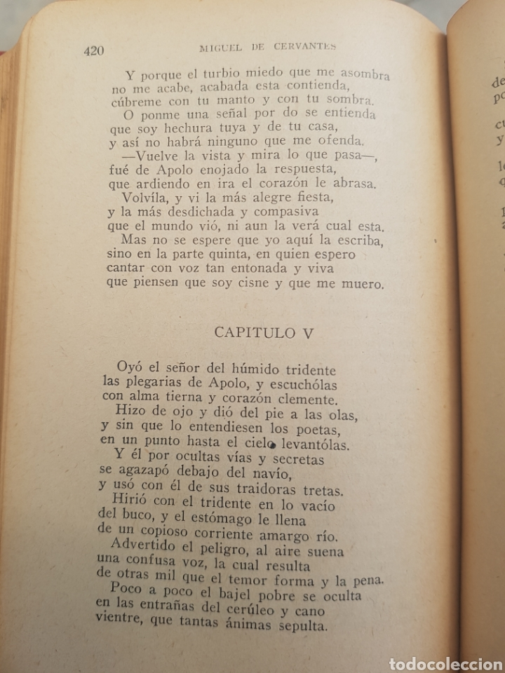 Libros antiguos: 1a. edición Cervantes La Galatea 1934 tapa roja Viaje al Parnaso y Poesías Suertas. Librería Bergua - Foto 7 - 174437178