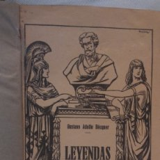 Libros antiguos: LEYENDAS ADOLFO BÉCQUER 1868. Lote 174523687