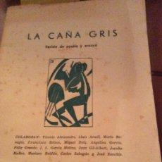 Libros antiguos: LA CAÑA GRIS 1960_1961.VICENTE ALEXANDRE. Lote 174526160
