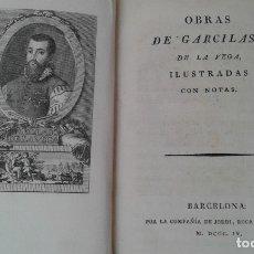 Libros antiguos: OBRAS DE GARCILASO DE LA VEGA AÑO 1804. Lote 175358787