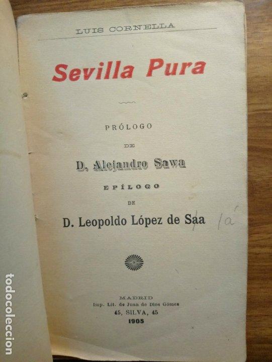 SEVILLA PURA - CORNELLA, LUIS (Libros antiguos (hasta 1936), raros y curiosos - Literatura - Poesía)