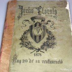 Libros antiguos: JOCHS FLORALS - BARCELONA 1878 - ANY 20 DE SA RESTAURACIÓ.. Lote 175755138
