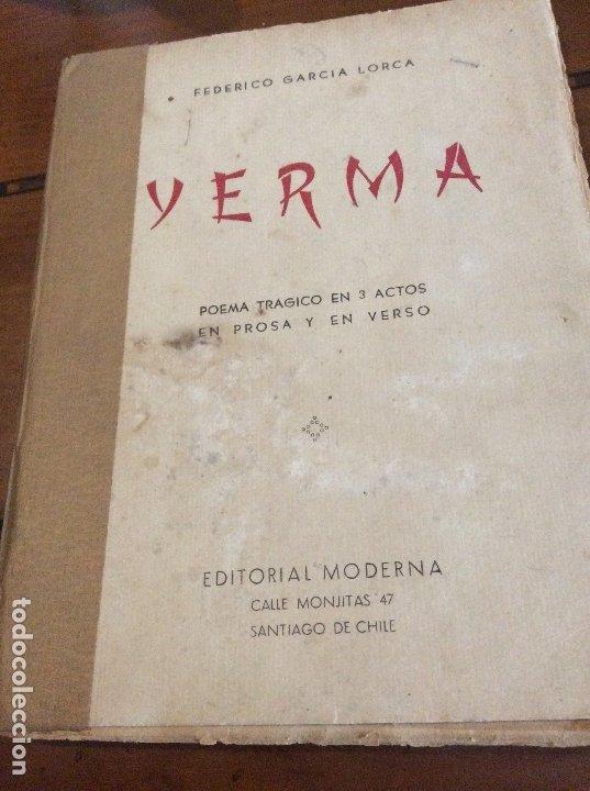 YERMA SANTIAGO DE CHILE (Libros antiguos (hasta 1936), raros y curiosos - Literatura - Poesía)