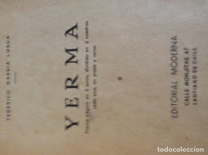 Libros antiguos: Yerma Santiago de Chile - Foto 2 - 176121280