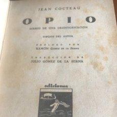 Libros antiguos: OPIO JEAN COCTEAU 1931.CUBIERTA DE PIEL. Lote 176239005