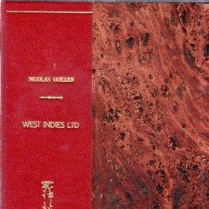 Libros antiguos: WEST YNDIES LTD. 1ª ED. NICOLÁS GUILLÉN. POEMAS. LA HABANA,CUBA. 1934. DEDICATORIA Y FIRMA DEL AUTOR. Lote 176326312