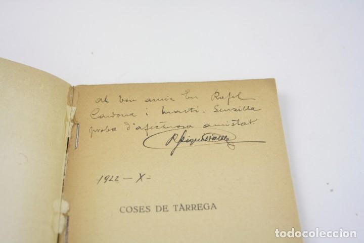 Libros antiguos: Coses de Tàrrega, poesies, 1921, Ricard Piqué Batlle, Impr. Sauret, con dedicatoria, Tàrrega. - Foto 2 - 176620844