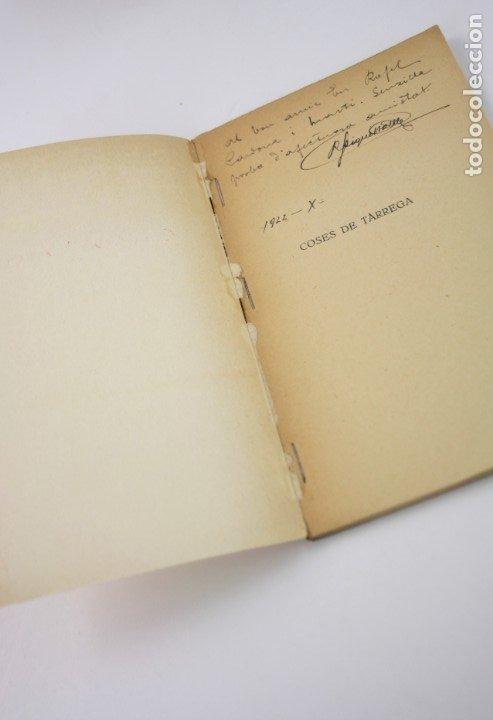 Libros antiguos: Coses de Tàrrega, poesies, 1921, Ricard Piqué Batlle, Impr. Sauret, con dedicatoria, Tàrrega. - Foto 3 - 176620844