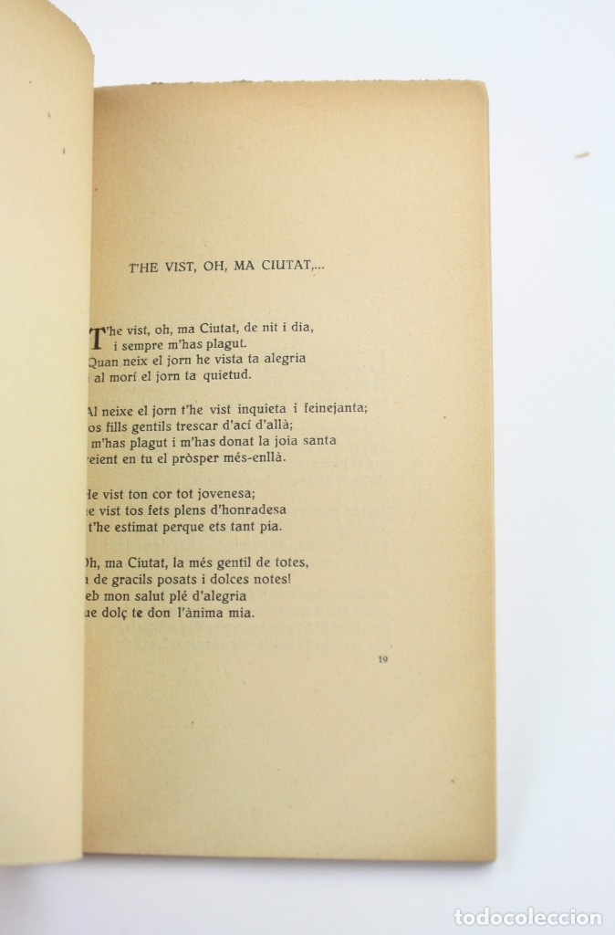 Libros antiguos: Coses de Tàrrega, poesies, 1921, Ricard Piqué Batlle, Impr. Sauret, con dedicatoria, Tàrrega. - Foto 4 - 176620844