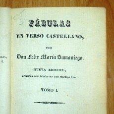 Libros antiguos: SAMANIEGO, FÉLIX MARÍA. FÁBULAS EN VERSO CASTELLANO. TOMO I. NUEVA ED., ADORNADA... CON UNA ESTAMPA. Lote 176739244