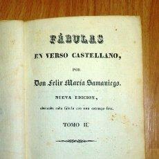 Libros antiguos: SAMANIEGO, FÉLIX MARÍA. FÁBULAS EN VERSO CASTELLANO. TOMO II. NUEVA ED., ADORNADA... CON UNA ESTAMPA. Lote 176739314