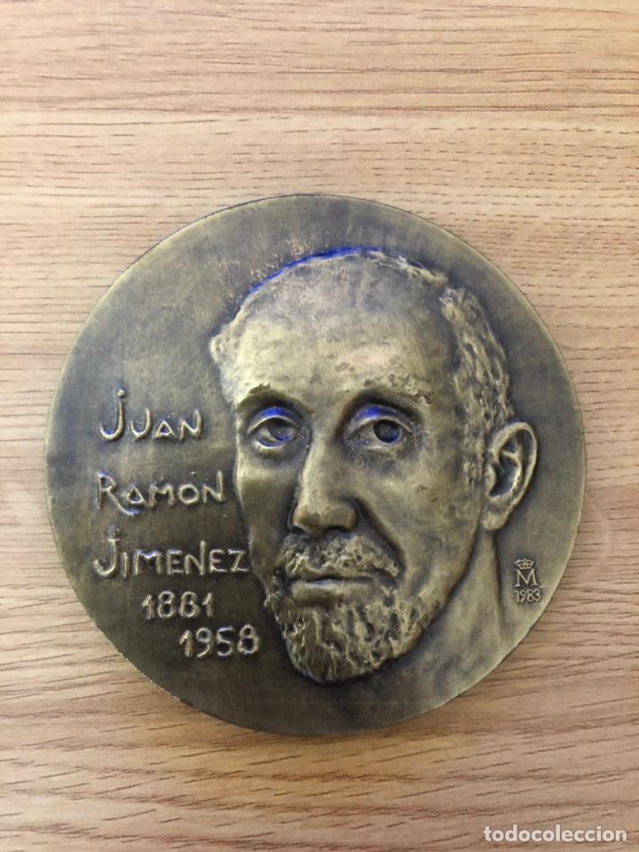 MEDALLA DEDICADA A JUAN RAMON JIMENEZ (Libros antiguos (hasta 1936), raros y curiosos - Literatura - Poesía)