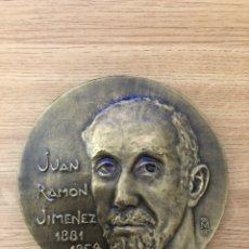 Libros antiguos: MEDALLA DEDICADA A JUAN RAMON JIMENEZ. Lote 177052044