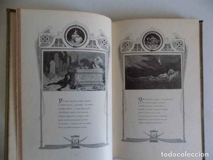 Libros antiguos: LIBRERIA GHOTICA.RARO LIBRO SIMBOLISTA DE SIGLO XIX.TRES POESIAS.EL ANGEL DE LA MUERTE.1883.GRABADOS - Foto 4 - 177750959