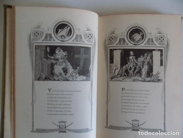 Libros antiguos: LIBRERIA GHOTICA.RARO LIBRO SIMBOLISTA DE SIGLO XIX.TRES POESIAS.EL ANGEL DE LA MUERTE.1883.GRABADOS - Foto 5 - 177750959