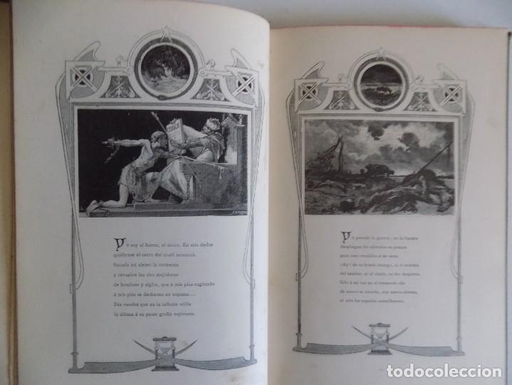 Libros antiguos: LIBRERIA GHOTICA.RARO LIBRO SIMBOLISTA DE SIGLO XIX.TRES POESIAS.EL ANGEL DE LA MUERTE.1883.GRABADOS - Foto 6 - 177750959