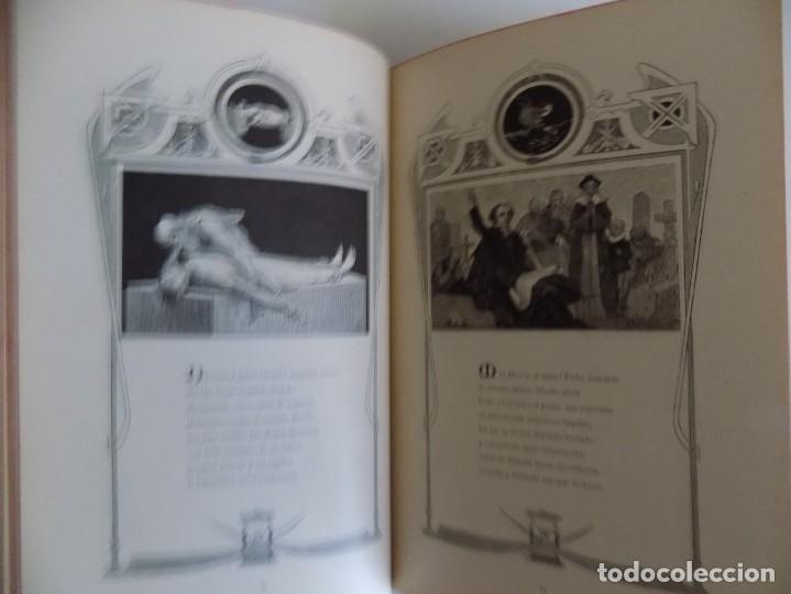 Libros antiguos: LIBRERIA GHOTICA.RARO LIBRO SIMBOLISTA DE SIGLO XIX.TRES POESIAS.EL ANGEL DE LA MUERTE.1883.GRABADOS - Foto 7 - 177750959