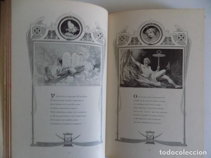 Libros antiguos: LIBRERIA GHOTICA.RARO LIBRO SIMBOLISTA DE SIGLO XIX.TRES POESIAS.EL ANGEL DE LA MUERTE.1883.GRABADOS - Foto 8 - 177750959