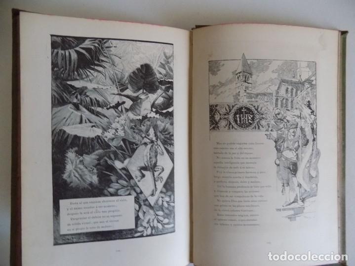 Libros antiguos: LIBRERIA GHOTICA.RARO LIBRO SIMBOLISTA DE SIGLO XIX.TRES POESIAS.EL ANGEL DE LA MUERTE.1883.GRABADOS - Foto 10 - 177750959