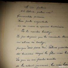 Libros antiguos: LIBRO MANUSCRITO.VICTORIANO RODAS.SANTA CRUZ DE LA PALMA.CANARIAS.AUTOR CARRO ALEGORICO.BAJADA VIRGE. Lote 178309080