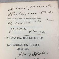 Libros antiguos: FRANCISCO VILLAESPESA DEDICATORIA AUTÓGRAFA 1916 COPA REY DE THULE MUSA ENFERMA JUAN R. JIMENEZ . Lote 178352765