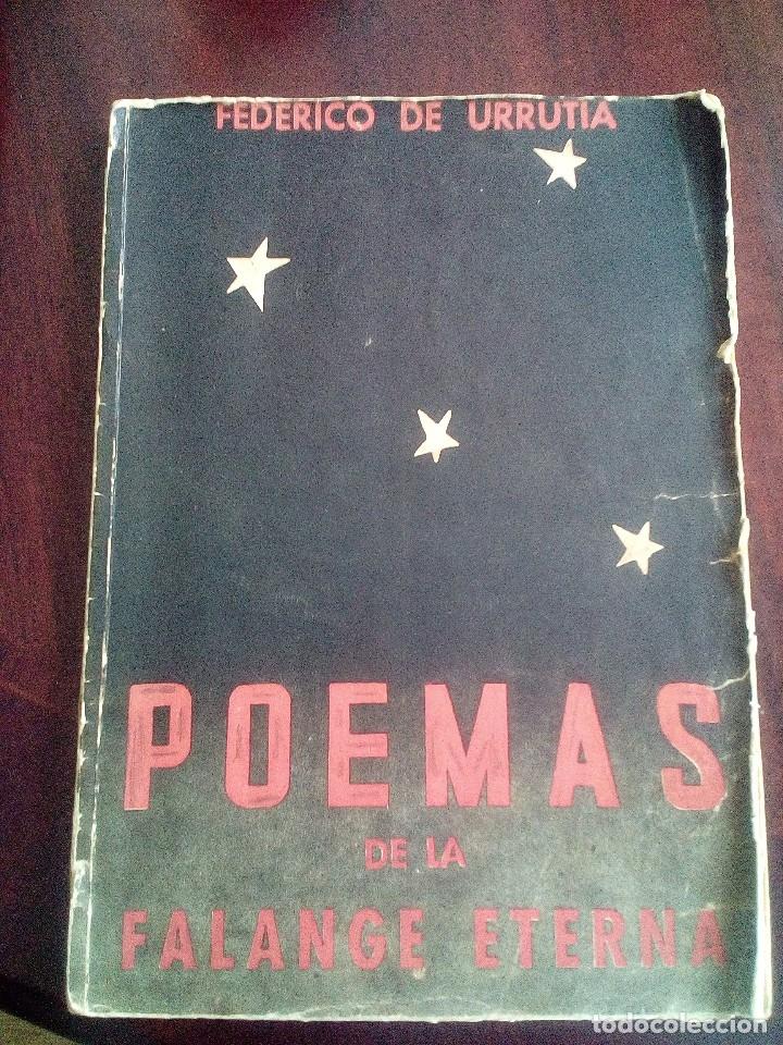 POEMAS DE LA FALANGE ETERNA. FEDERICO DE URRUTIA. 1938 (Libros antiguos (hasta 1936), raros y curiosos - Literatura - Poesía)