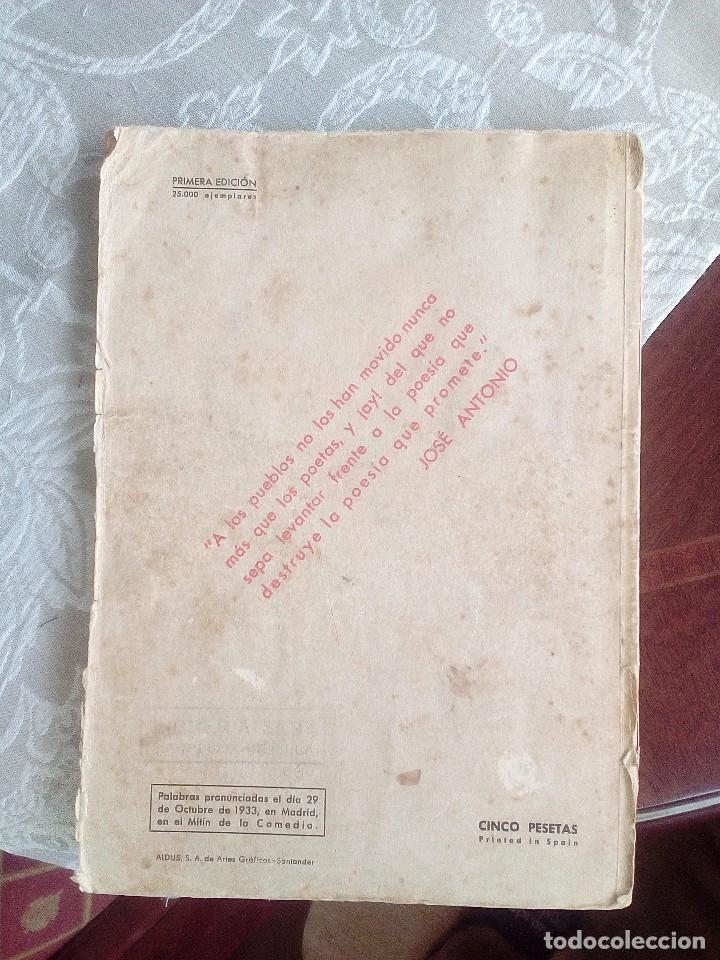 Libros antiguos: POEMAS DE LA FALANGE ETERNA. FEDERICO DE URRUTIA. 1938 - Foto 8 - 178381561