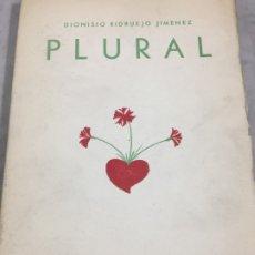 Libros antiguos: PLURAL. 1929-1934. VERSOS. PRIMERA EDICIÓN DIONISIO RIDRUEJO JIMENEZ SEGOVIA 1935 INTONSO. Lote 178965106