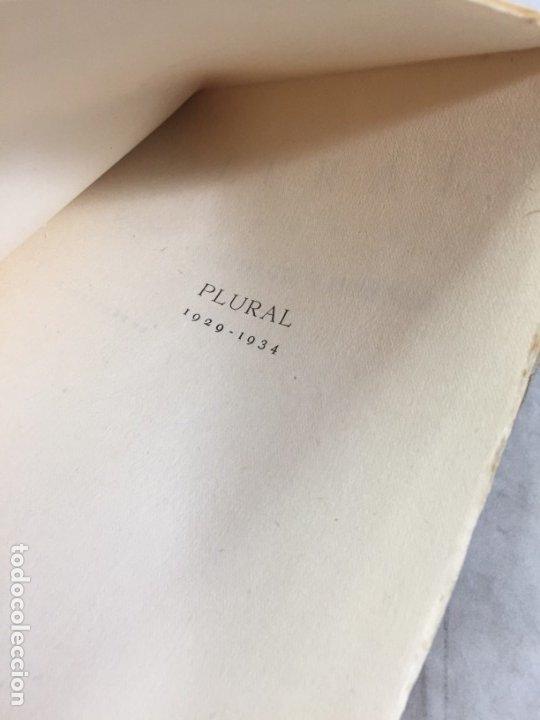Libros antiguos: PLURAL. 1929-1934. Versos. Primera edición Dionisio RIDRUEJO JIMENEZ Segovia 1935 intonso - Foto 4 - 178965106
