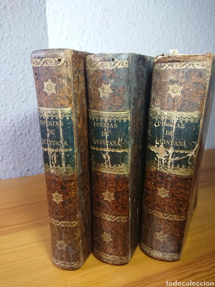 Libros antiguos: Poesias Selectas de Quintana, 1830, Tomos I, II y IV - Foto 2 - 179196212