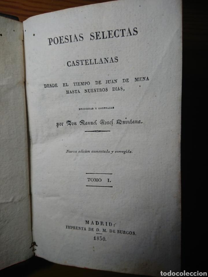 Libros antiguos: Poesias Selectas de Quintana, 1830, Tomos I, II y IV - Foto 3 - 179196212