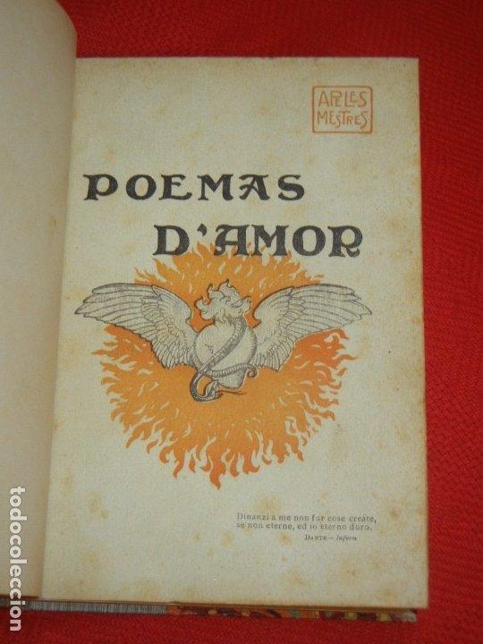 Libros antiguos: POEMAS D'AMOR, DE APEL·LES MESTRES - EST.TIP,SALVAT Y CIA 1904 - Foto 2 - 180023560