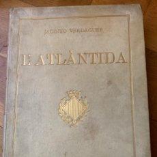 Libros antiguos: L- L'ATLÀNTIDA, JACINTO VERDAGUER 1876, PERFECTE ESTAT, EXEMPLAR 209. Lote 180238802